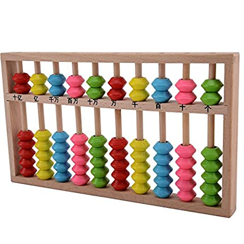 Lucky Will enfants chinois bois Abaque Soroban Abacus Calcul outil outils Cadre de calcul boulier