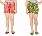 Girl's Cotton Night Wear Shorts By Red R...