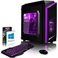 VIBOX Pyro SA6-108 Gaming PC Ordenador de sobremesa con War Thunder Cupón de juego, Windows 10 OS (4,1GHz AMD A6 Dual-Core Procesador, Radeon 8470D Gráficos Chip, 16GB DDR3 1600MHz RAM, 1TB HDD-SSD)