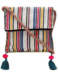 The House Of Tara Boho Chick Crossbody Bag In Handloom Fabric HTCB 046