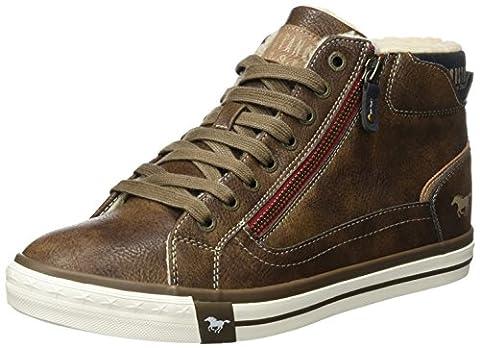Mustang Herren 4072-601-360 Hohe Sneaker, Braun (Mittelbraun), 44 EU