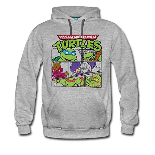 TMNT Turtles Splinter Shredder Männer Premium Hoodie von Spreadshirt®, XXL, Grau (Ninja Turtles Hoodie Teenage Mutant)