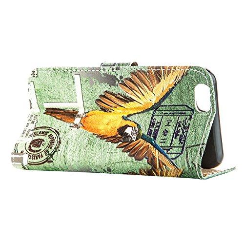 """MOONCASE Étui pour iPhone 6 Plus / 6S Plus (5.5"""") Cuir Coque en Portefeuille Protection Housse de Étui à rabat Case RX26 RX03 #0308"""