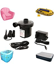 Tera® Gonfleur dégonfleur électrique par l'électricité 220V et 12V de voiture