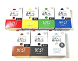 Daiso Soft Clay 7 colors (Red/Blue/Yellow/Green/Black/Brown/White) 560g