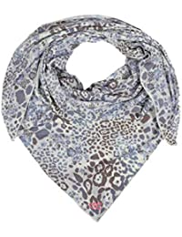 6a9610a8a31eed Zwillingsherz Dreieckstuch mit Kaschmir - Hochwertiger Schal im trendigem  Leo-Design für Damen Jungen und