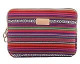 Housse Sacoche pour iPad Tablet Ordinateur Portable Plusieurs Patterns et Tailles Rouge Foncé 11-12 Inch