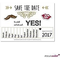 15 Save the Date Einladungen | dv_156 | ideal um den schönsten Tag des Lebens freizuhalten I Einladung, Love, Hochzeit, Post, Brautpaar, Postkarte, Tag, freihalten, she said yes