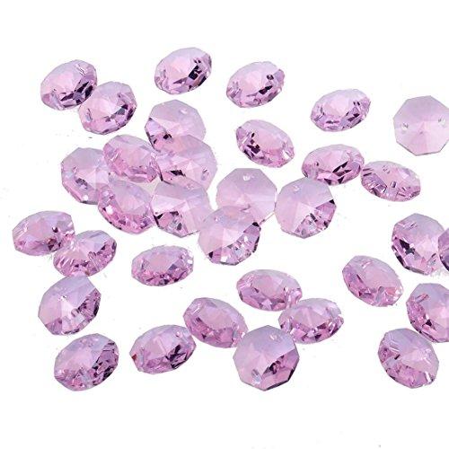 Perline di cristallo allentati, Yier® 14 millimetri di vetro lampadario lampada di sostituzione Suncather prismi (Perline Di Cristallo Di Sfaccettatura)