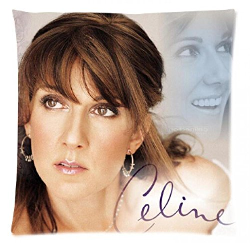 Geryer home pillow cushion Custom Classic Celine Dion Fashion Style Cotton Linen Decorative Suitbale Single Pillow Case Standard Size 18''x18''(Twin Sides)