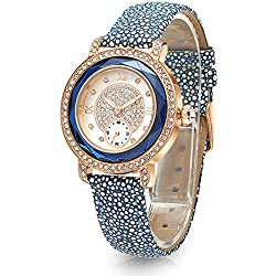 Time100 Luxury Diamonds Fashion Case Bracelet Quartz Womens Watch #W80109L.02A