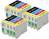3 Compatible Sets of 4 XL Printer Ink Cartridges to replace T1306 (12 Inks) - Black / Cyan / Magenta / Yellow for use in Epson Stylus Office B42WD, BX525WD, BX535WD, BX535WD, BX630FW, BX635FWD, BX925FWD, BX935FWD, SX525WD, SX535WD, SX620FW & WorkForce WF-3010DW, WF-3520DWF, WF-3530DTWF, WF-3540DTWF, Pro WF-7015, WF-7515, WF-7525 ***High Capacity - XL***