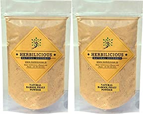 BABOOL POWDER | BABUL POWDER | BABOOL PHALI POWDER | ACACIA ARABICA POWDER, 200 gm (2 pouch of 100 Gm each) 100% Pure,Genuine, herbal, Natural ,Safe, No Side Effects, Premium quality | ORGANIC HERBAL POWDER BY HERBILICIOUS