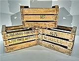 Decowood Set de Cajas de Fruta, Madera, Beige, 49x35x31 cm 3 Unidades