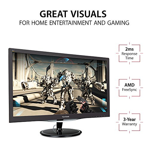 ViewSonic VX2257 mhd 22 inch extensive HD Gaming Monitor with the help of AMD FreeSync 1ms 1080p VGA HDMI DisplayPort loudspeakers Black Products