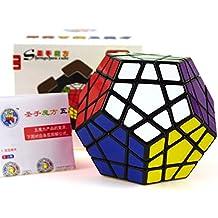 Megaminx negro, juego de competición de la torcedura Dedicado Cubo de Rubik Con Trucos