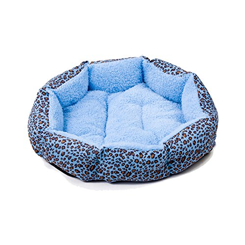 Switchali Leopard Print Cotton Pet Dog Cat Fleece Warm Bed House Plush Cozy Nest Mat