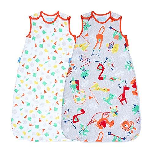 Gro AAA5260 Childs Play Waschen und Tragen Schlafsäcke Grobag, 1.0 Tog, 6-18m, 90cm, 2 Stück, mehrfarbig