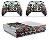 giZmoZ n gadgetZ GNG Marvel Étiquette autocollante Champ pour Console Xbox One S + 2 Kits pour manettes