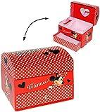 Unbekannt Schmuckkasten - mit Schubladen + Spiegel -  Disney Minnie Mouse  - Mädchen - z.B. für Schmuck - Schmuckbox Schmuckkästchen / Schmuckdose - Box / Kiste - Mäu..