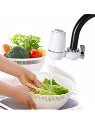 Filtro de Agua del Grifo del Cocina,Hoyoo,Mini Purificador de Agua Filtro de Cerámica,Purificador de Agua de Cerámica Filtro Compuesto de 7 Capas