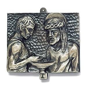 Tableaux Via Crucis, 15 pièces, bronze martelé