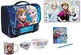Disney Eiskönigin Frozen Schultasche Schulranzen Anna und ELSA Schulmappe für Mädchen | Schulrucksack |mehrteilig