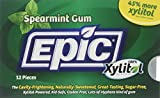 Epic Dental 100 % Xylitol Sweetened Gum, Spearmint, 12 Count (Pack Of 12)
