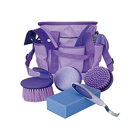 Set Grooming avec sac à dos en nylon, éponge, brosses,