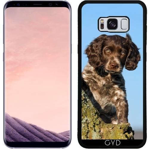 SilikonHülle für Samsung Galaxy S8 Plus (SM-G955) - Niedlich Deutsch Spaniel Hundewelpe by Katho Menden