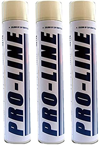 White Line Marker Spray Paint Aerosol Line Marking Paint - Can Be Used On Tarmac, Grass, Pitches, Paths - Fast Drying and Long Lasting (3)