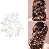 50 cm/100 cm filo per capelli matrimonio gioielli per capelli perle strass sposa pettine per capelli comunione copricapo fascia con cristallo perle per donne e ragazze