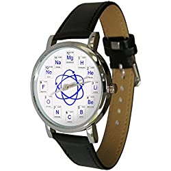 Atomic elements watch showing chemical elements from the periodic table