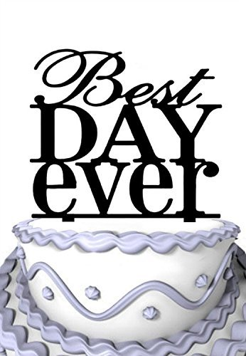 Rustic Wedding Best Day Ever Wedding Cake Toppers Anniversary Cupcake Stand Party Cake Topper, Ideal Gift, Personalized Cake Decor Beste Cupcake