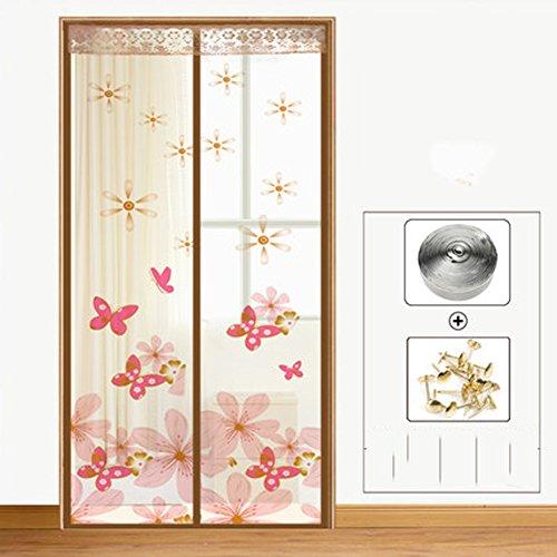 Ju0026DSSSU Fliegen Sie Vorhang Für Tür Mit Heavy Duty Magnetische  Fliegengitter Tür Für Schiebetüren Wohnzimmer Zäh Und Langlebig A  120x220cm(47x87inch)