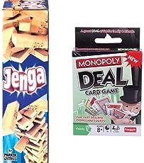 Funskool Jenga + Funskool Monopoly Deal Card Game