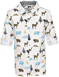 Life Boys Collared Printed Shirt
