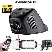 WiFi oculta grabadora de vídeo para coche Espejo retrovisor con cámara trasera HD 1080P 170grados gran angular vehículo Dash Cam G-sensor