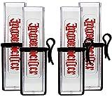 Jägermeister Reagenzglas Shotglas Reagenzgläser Shotgläser aus Kunststoff mit Gürtelhalter - 4er Set