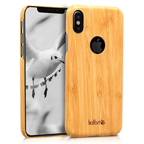 kalibri-Holz-Case-Hlle-fr-Apple-iPhone-X-Handy-Cover-Schutzhlle-aus-Echt-Holz-und-Kunststoff-Mix-Bambusholz-in-Hellbraun