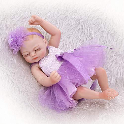 Babypuppen Mini Full Body Soft-Silikon-Baby-Realistic Neugeborenes Baby Dolls Handgemachte Spielzeug Niedliches Weihnachten Geburtstags-Geschenk ()