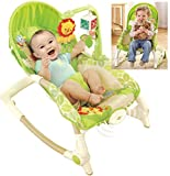 #4: MousePotato 3 Level Adjustable Newborn to Toddler Rocker Chair Bouncer with Calming Vibration Mode