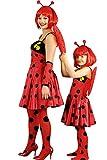Marienkäfer Kostüm rot-schwarz-gelb für Mädchen | 2-4 Jahre | 3-teiliges Tierkostüm für Karneval | Käfer Faschingskostüm