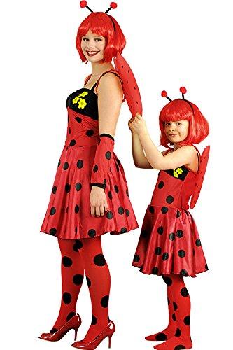 rot-schwarz-gelb für Mädchen | 2-4 Jahre | 3-teiliges Tierkostüm für Karneval | Käfer Faschingskostüm (Schwarzer Käfer Kostüm)