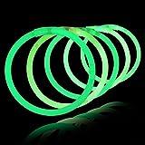 100 Pulseras luminosas glow pack verdes ENTREGA 1-3 DÍAS
