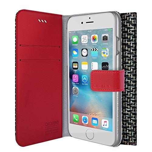 Portefeuille pour iPhone 3S, Iphone 6, araree® Agenda [propre] Tissu Premium Étui portefeuille en cuir véritable Case Étui portefeuille à rabat avec porte-carte de crédit pour iPhone 6S