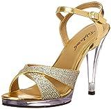 Best Fabulicious plataforma de las sandalias - Fabulicious FLAIR-419(G) Gold Multi Glitter/Clr Size UK 12 Review