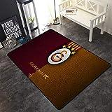 INSTUS Teppich Fußball Verein Logo Drucken Rutschfeste Matte Sport Fans Home Deco Teppich Verdicken Rutschfest/Galatasaray / 140 * 200cm