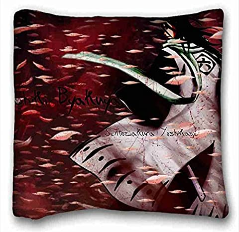 Custom Cotton & Polyester Soft ( Anime Bleach ) Standard Size Pillowcase for Hair & Facial Beauty Size 16x16 Inches suitable for Twin-bed PC-White-15320