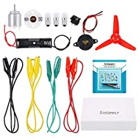 ‏‪Sntieecr Electric Circuit Motor Kit, Educational Montessori Learning Kits for Kids DIY STEM Science Project‬‏